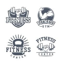 Gym fitness logo badge vector