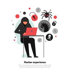 hacker flat vector image