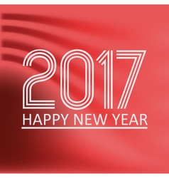 happy new year 2017 on red abstract color vector image