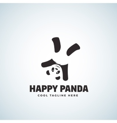 Happy Panda Abstract Emblem or Logo vector image vector image