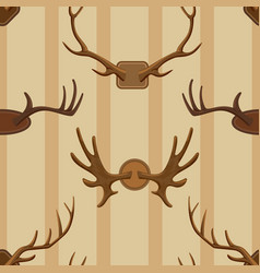 horn horned wild animal and deer vector image