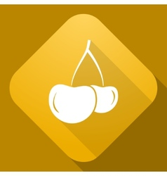 icon of Cherry with a long shadow vector image