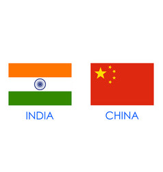 India vs china concept showing tension and vector
