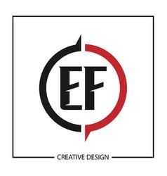Initial letter ef logo template design vector