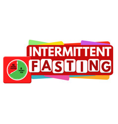 Intermittent fasting label or sticker vector