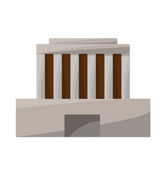Isolated object building and mausoleum logo vector