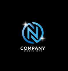 Letter n logo design template vector