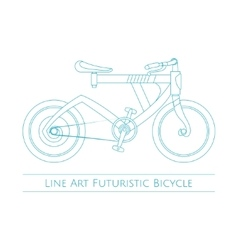 Line Art Futuristic Bicycle vector image vector image