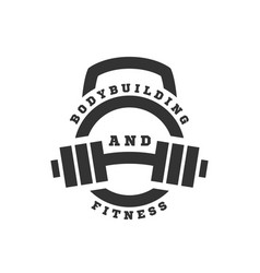 linear logo bodybuilding and fitness vector image