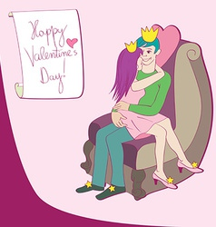 love queen and king vector image