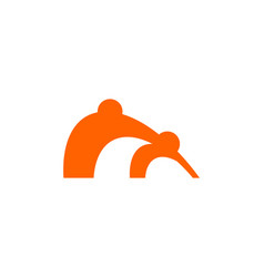 m letter people business logo design template vector image
