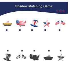 Matching game for preschool children educational vector