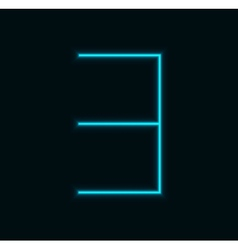 modern neon number on black background vector image