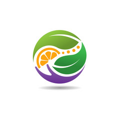 Nature care circle logo vector