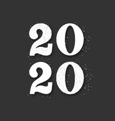 new year 2020 silver glitter background vector image