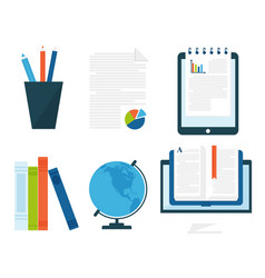 online education staff training book store vector image