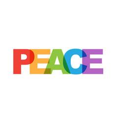 Peace phrase overlap color no transparency vector