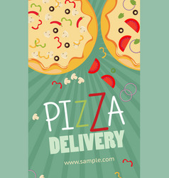 Pizza advertisement banner pizza delivery service vector