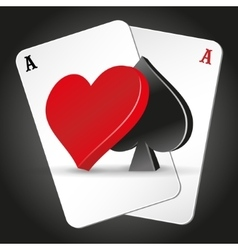 poker symbols and cards vector image