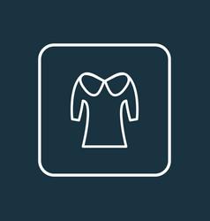 puritan collar icon line symbol premium quality vector image