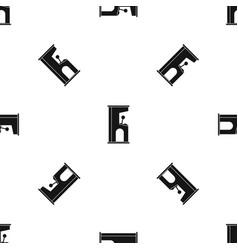 retro style arcade game machine pattern seamless vector image