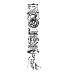Roman standard is a legionary known vector