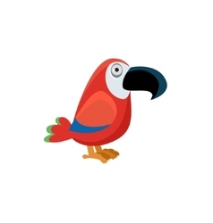 Scarlet Macaw Funny vector