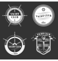 set yacht club logo vector image