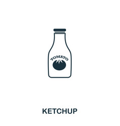 simple outline ketchup icon pixel perfect linear vector image