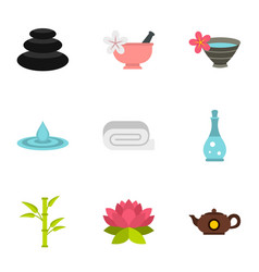 spa therapy massage cosmetics icons set vector image
