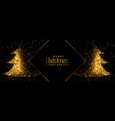 sparkles christmas tree design with text space vector image