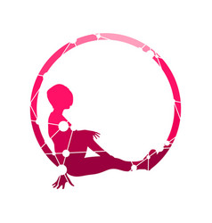 sporty woman silhouette vector image