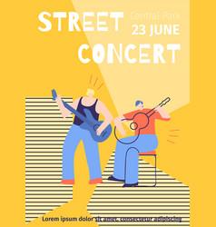 street concert advert festival poster template vector image