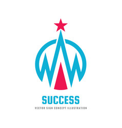 success - logo template concept vector image