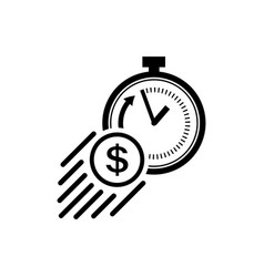 Time is money icon fast money concept vector