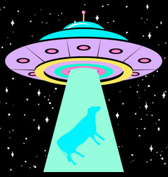 ufo poster or banner unidentified flying object vector image