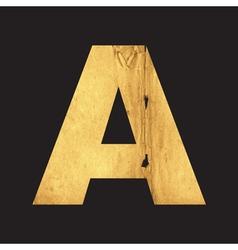 Uppercase letter a english alphabet vector