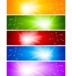 vector set of bright banners vector image vector image