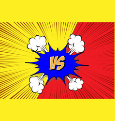 versus vs fight backgrounds vector image