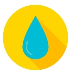 Water Drop Circle Icon vector image