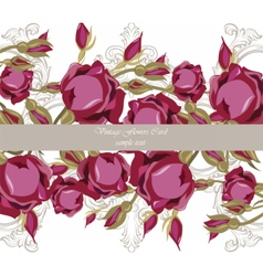 Watercolor Roses Flowers Card vector