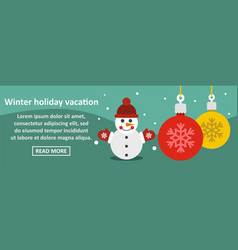 winter holiday vacation banner horizontal concept vector image