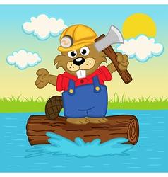Beaver on log vector
