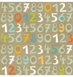 Colorful numbers and letters vector image