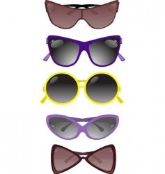 solar glasses vector image vector image