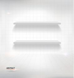white empty shelves on white wall vector image vector image