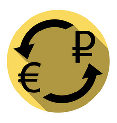 currency exchange sign euro and russia rouble vector image