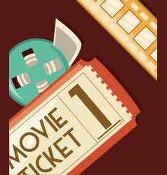 movie ticket design vector image vector image