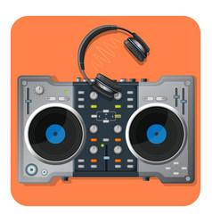 multifunctional dj turntable and powerful modern vector image