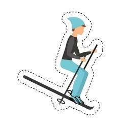 snow ski extreme sport vector image